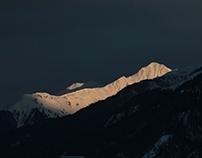 Sunset over Tyrol
