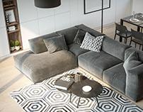 Дизайн интерьера типового модульного дома 70кв.м