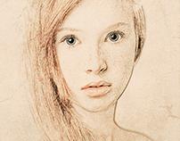 Photoshop portrait painting (water color painting)