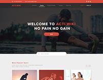 Sport Activities Website Design