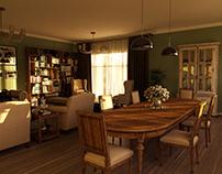 CLASSIC LIVING ROOM- 3D renderings