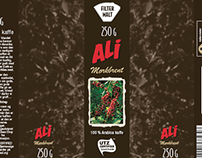 Pakning for Ali Mørkbrent Kaffe