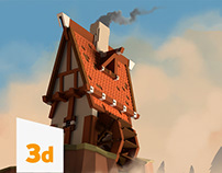 [3D] Medieval house & Assets