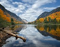 Herbst im Nationalpark Jaques Cartier, Quebec