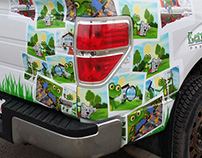 Earth Smart Partial Truck Vinyl Wrap