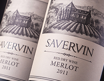"Wine label design ""Savervin"""