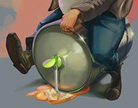2D Illustration - Old Man