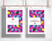 Free Modern Clipped Hanging Poster Mockup Vol 2