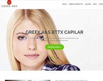 Página Web sobre producto para el cabello - México