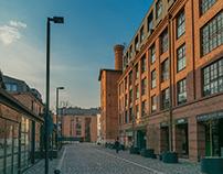 Morning near the railway station in Krakow
