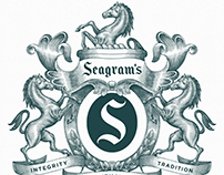 Seagram's New Logomark Illustrated by Steven Noble