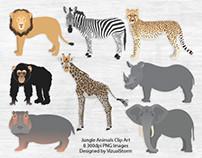 Jungle Animal Illustration Set