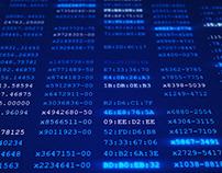 4K Digital Computer Data Security Screen Closeup