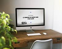 Webdesign Chris Burkard School Project
