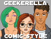 Geekerella - Comic-style drawings for each chapter.