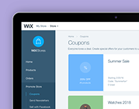 Wix Stores Coupon Dashboard