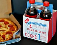 Domino's Share a Coke + Breadsticks Packaging
