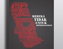 TYPO POSTER : Stop Human Trafficking