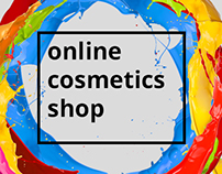 Online cosmetics shop. E-commerce