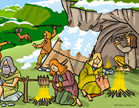 Illustrations of prehistoric ages