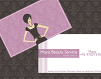 Business Card for Maya Beauty Service