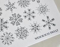 Christmas creations. Postcards and e-mail-graphics.