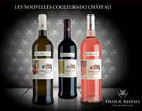 Château Kefraya new labels (White & Rosée)