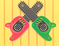 Logo motosierras monas