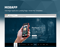 MobApp - One Page App Landing Page