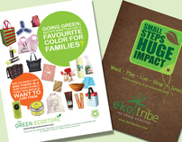 Print Ads for Ekotribe & The Green Ecostore