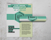 US Letter Flyer / Resume Mockups