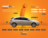 Movida Rent a Car . Proposta Site 2009