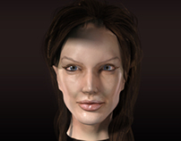 Angelina Jolie Potrait Sculpt