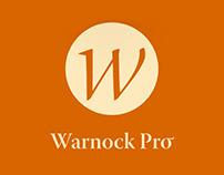Warnock Pro Font Specimen