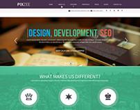 Pixzee-Parallax Singlepage Free PSD