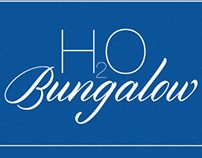 H2O Bungalow Logo and Business Cards