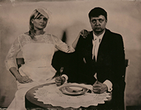 Wedding - studio works. Ambrotype.