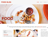 Food Blog, A Wordpress Theme