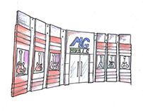 MG Music Store Concept Sketch