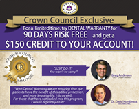 "Flyer for ""CROWNCOUNCIL"" and ""Dental Warranty"""
