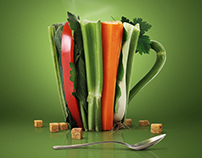 Cup of vegetables