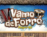 Cartaz Vamo de Forró