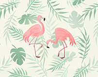 Flamingo Surface Design Tropical