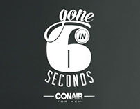 Conair For Men: Gone In Six Seconds