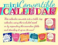HAS mini-convertible desk calendar