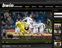bwin multimedia website redesign