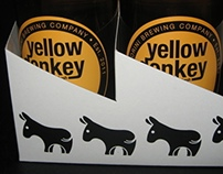 Yellow donkey Beer - 6 pack carton carrier