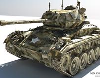 M24 Chaffe Tank 3D - Big presentation.
