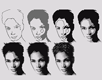 4 colors Halle Berry