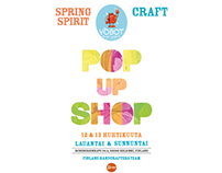 Poster for Finland Handcrafters Team's Pop Up Shop